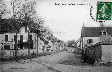 La Celle sur Nièvre route de Paris