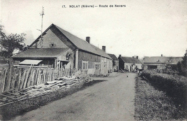 Nolay route de Nevers